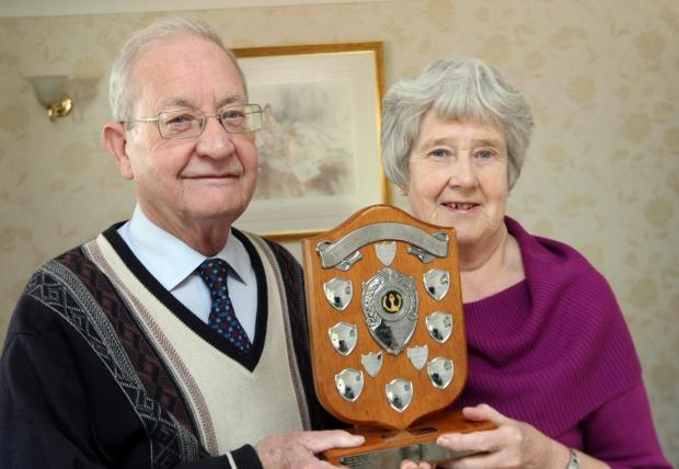Jim Cousins with wife Maureen, who was also given the award in 1996