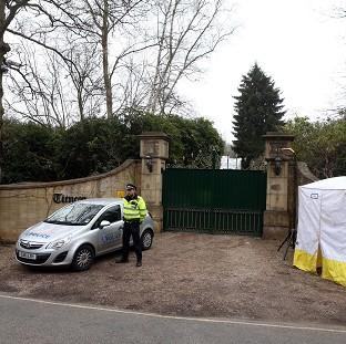 Maldon and Burnham Standard: Police outside the home of Boris Berezovsky after his death.