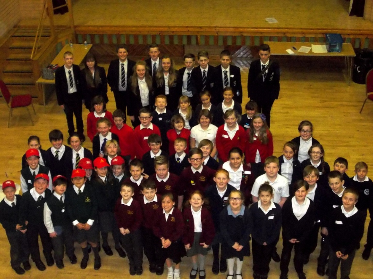 Pupils who attended the conference
