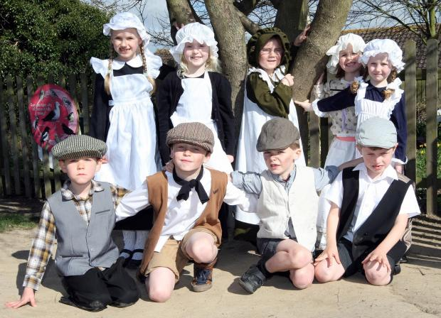 Pupils at All Saints primary school spent the day dressed as Victorians