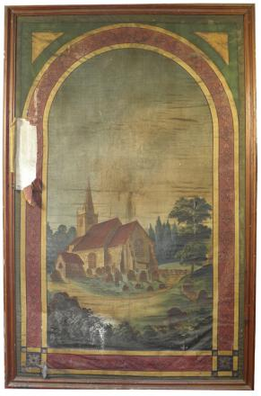 The painting by Miss Hayter of St Peter's Church