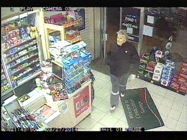 CCTV footage of the suspect