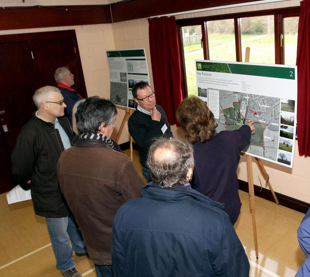Public exhibition held last March of plans for the development in South Maldon, before the planning application was submitted