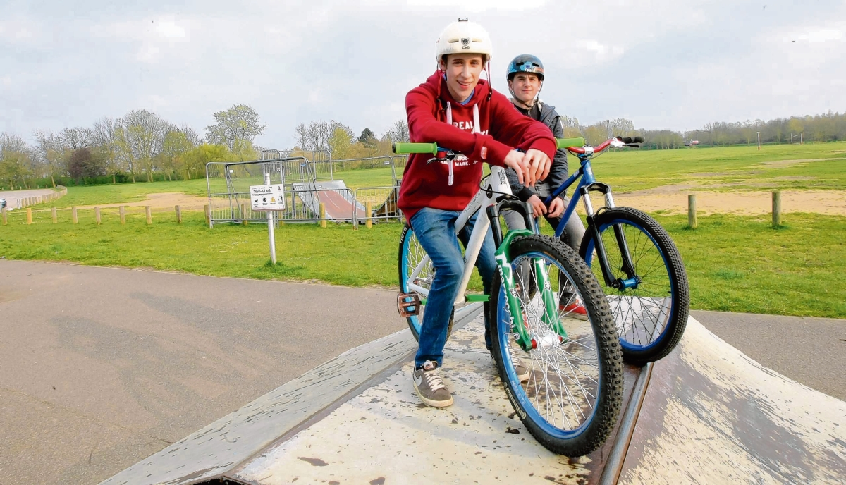 Jack Sparks and Morgan Wringe pictured at the skatepark