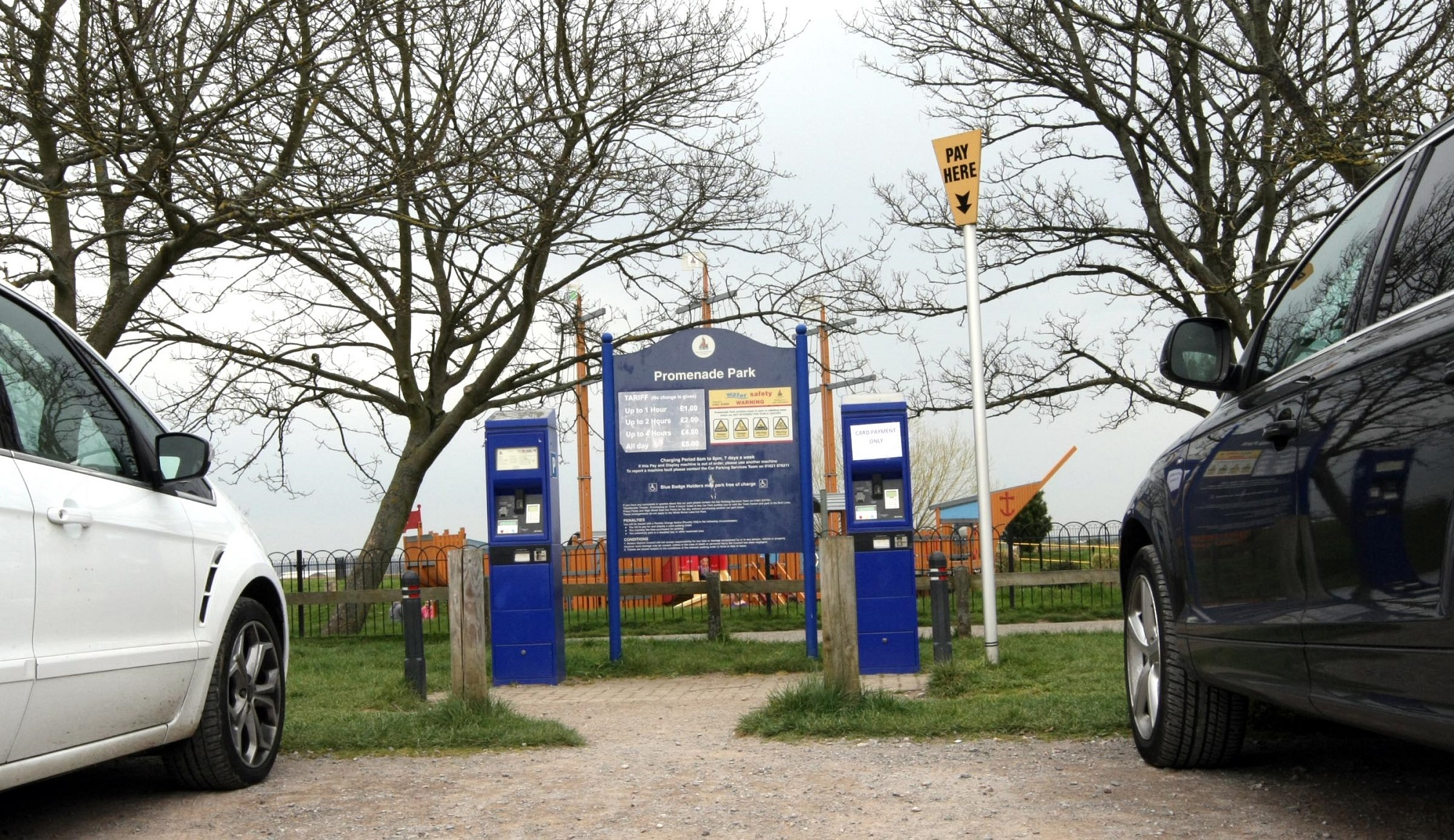 Promenade Park car park ticket machines have been targeted