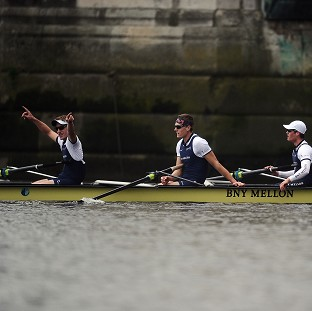 Oxford celebrate Boat Race triumph