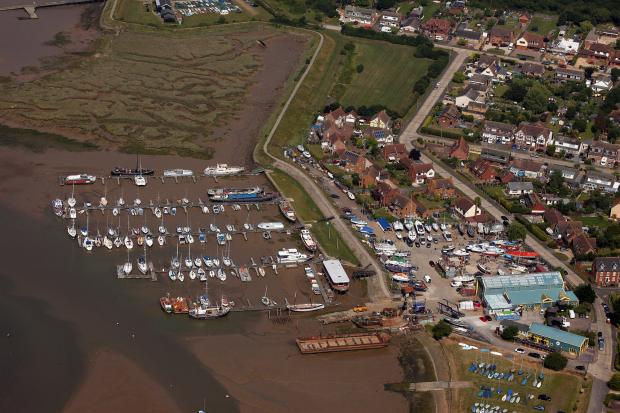 A submitted picture of Blackwater Marina from the air