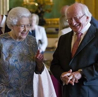 Maldon and Burnham Standard: The Queen and Irish president Michael D Higgins in Windsor Castle