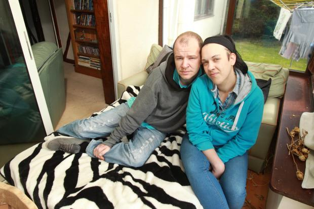 Nick Alger and Chloe Hutchings are relying on friends for shelter