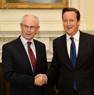 Herman Van Rompuy and David Cameron are to hold talks at Chequers