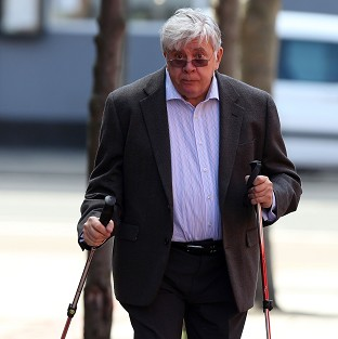 Former executive chairman of the now-defunct JJB Sports Sir David Jones arriving at Leeds Crown Court