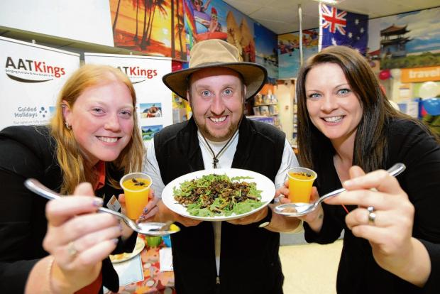 Maldon and Burnham Standard: Stacey Turland, Andy Austen and Julie Cook sample some bushtucker