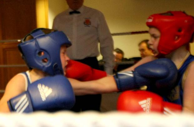 Opening skills bout, Teddy Anderson, 10, Mayland (blue) V J Crabb, Southen (red)