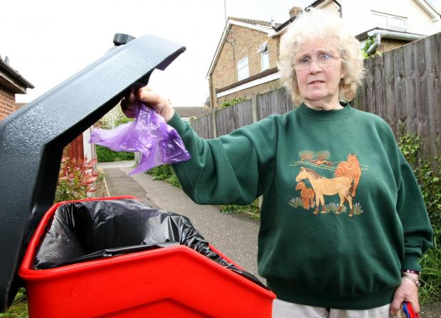 Maldon and Burnham Standard: Cllr Una Norman is upset about the new charges to empty new dog mess bins