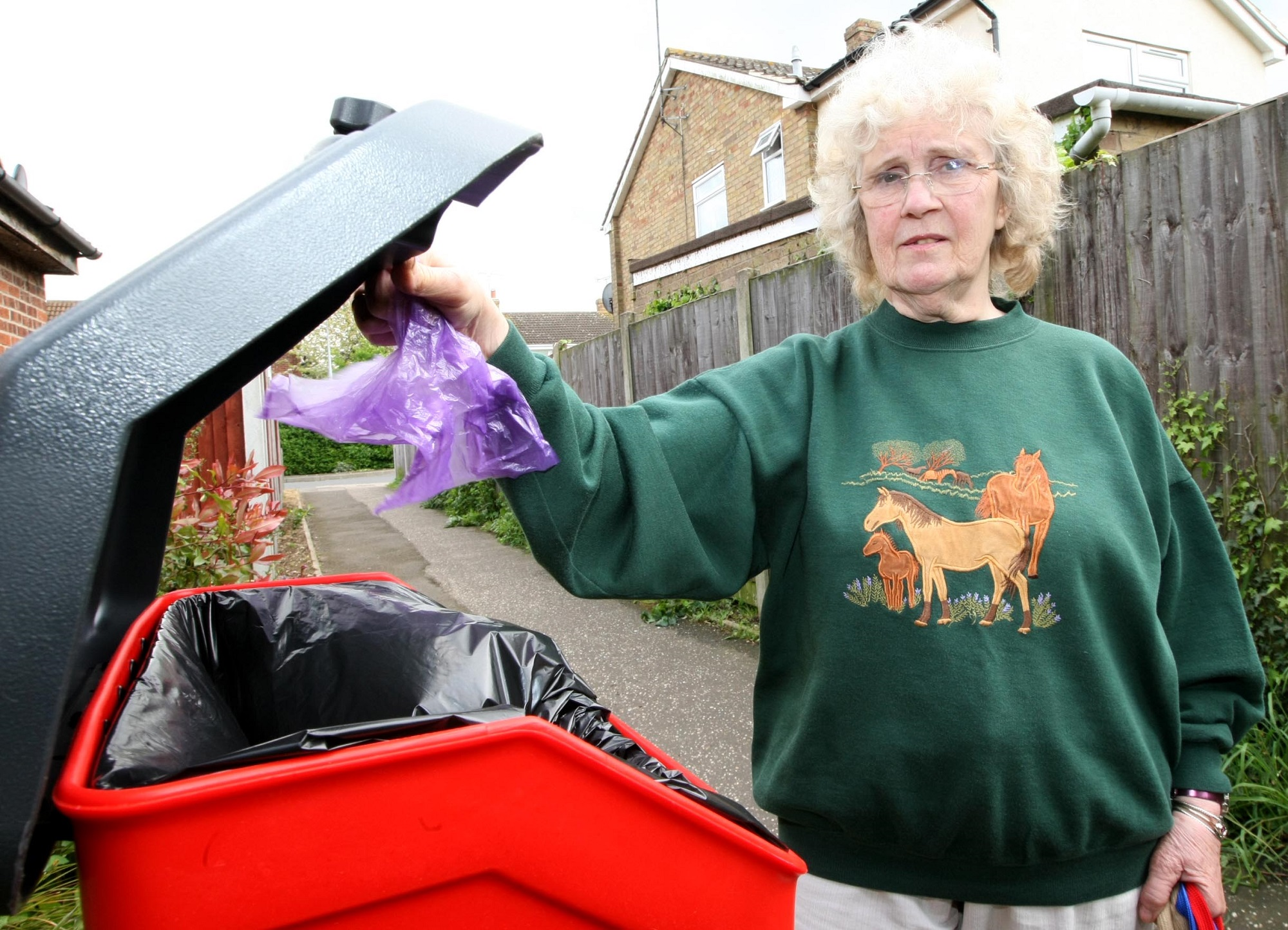 Cllr Una Norman is upset about the new charges to empty new dog mess bins