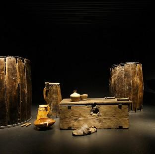 Artifacts brought from the sea bed of The Solent and preserved on display at the new Mary Rose Mus