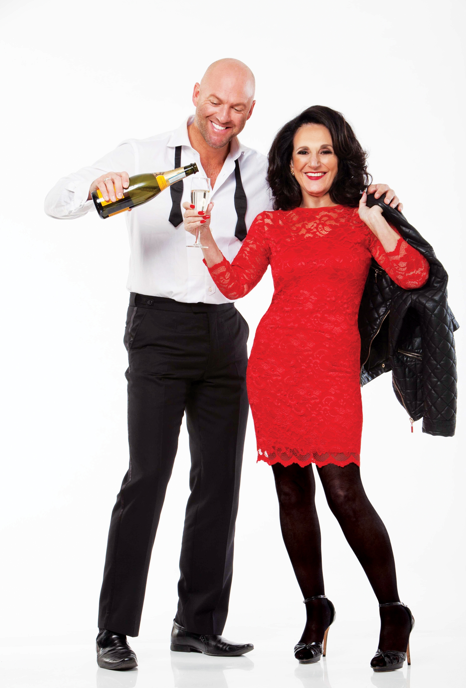 Lesley Joseph with Hot Flush co-star Matt Slack