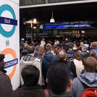 Maldon and Burnham Standard: Commuters at Stratford station in east London, on the first day of a 48 hour strike by tube workers