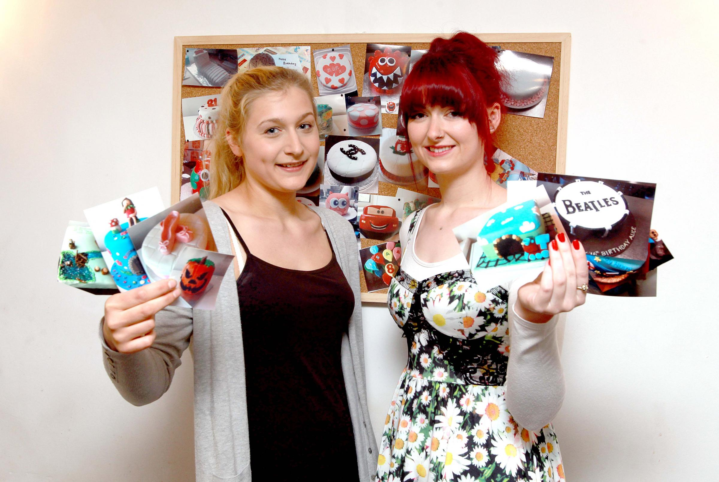 Lucie Nicholas and Rhiannon Saffell are in the national semi-finals of Young Slimmer of the Year