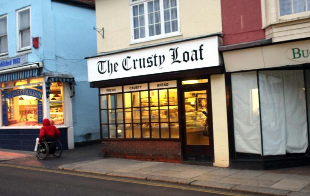 The Crusty Loaf store in Maldon's High Street. The store in Spital Road was raided last week.