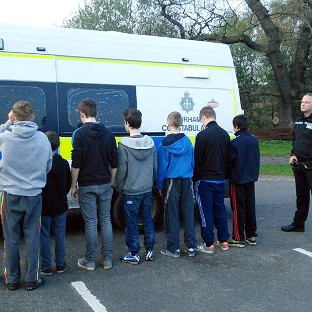 Golf buggy police round up youths
