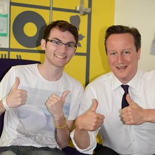 Teenage cancer patient Stephen Sutton was visited by Prime Minister David Cameron