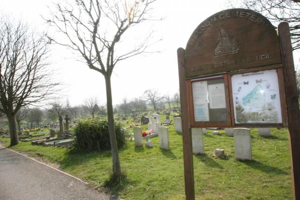 The site planned for development is behind Maldon cemetery