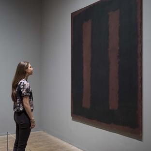 Black on Maroon 1958 by influential artist Mark Rothko has gone back on display after 18 months of restoration work after it was vanda