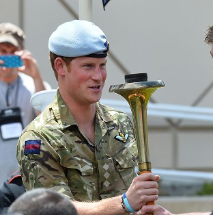 Harry beats drum for Invictus Games