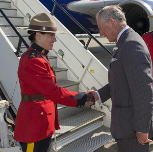 Charles and Camilla land in Canada