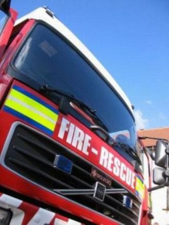 Fire fighters tackle blaze after lightning strikes house