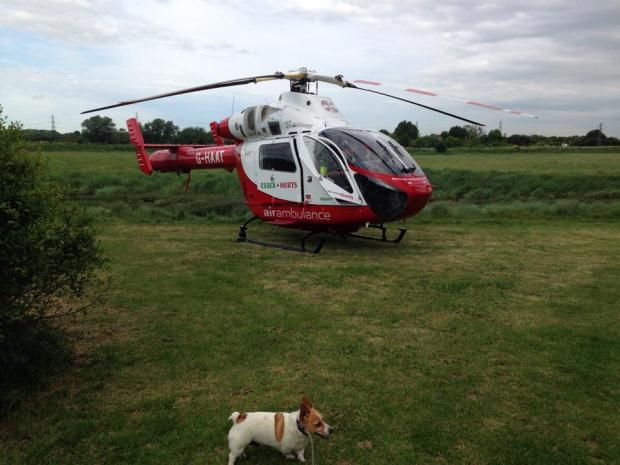 Herts Air Ambulance were at the scene. Photo by Matthew Hearn