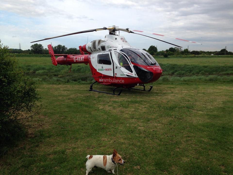 Herts Air Ambulance were at the scene. Photo