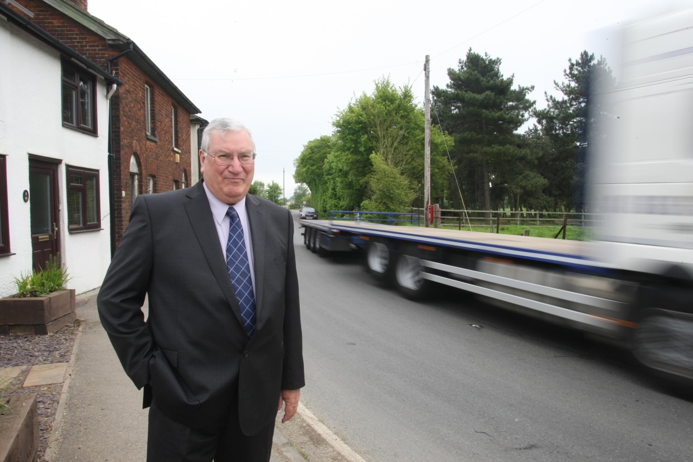 Asheldham and Dengie Parish Council chairman Bryan Ledger in Southminster Road