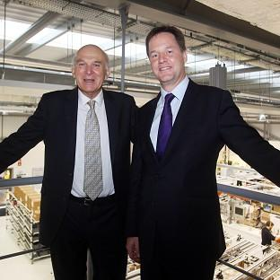 Maldon and Burnham Standard: Vince Cable and Nick Clegg tried to show they were at ease in each other's company