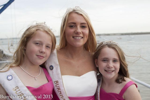 Current carnival queen Ellen Tracey, centre, with princesses Rachel Cottee and Maggie Smyth. Picture: Williams Family Photographers