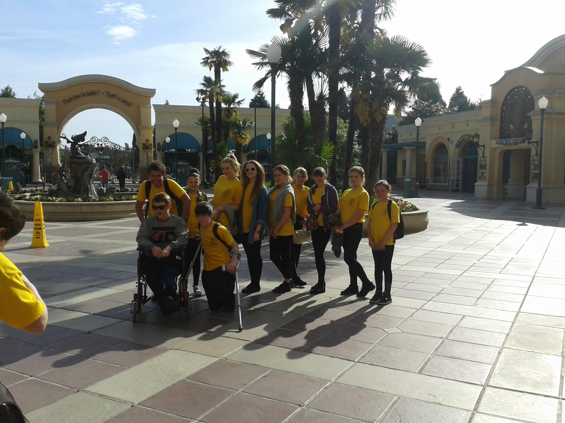 The Maldon Theatretrain youngsters at Disneyland Paris