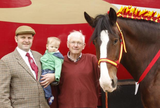 Graham, Richard and little Henry Collins at the show