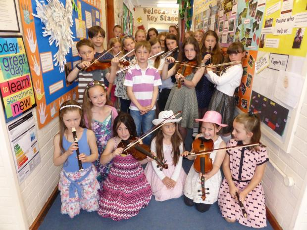 Musicans at All Saints Primary School