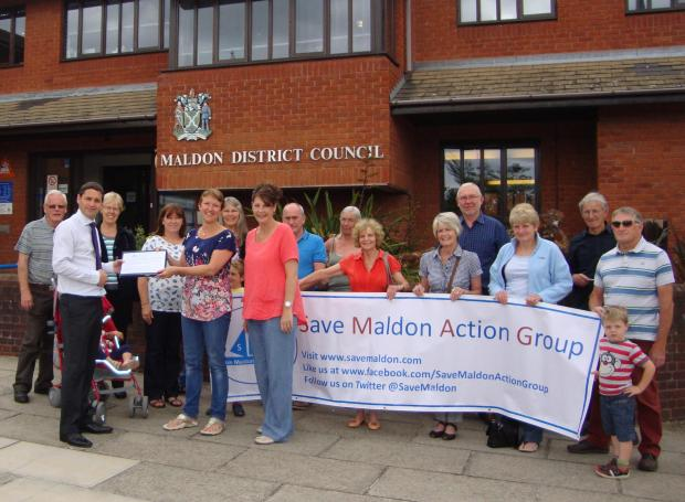 Save Maldon Action Group hand over their petition