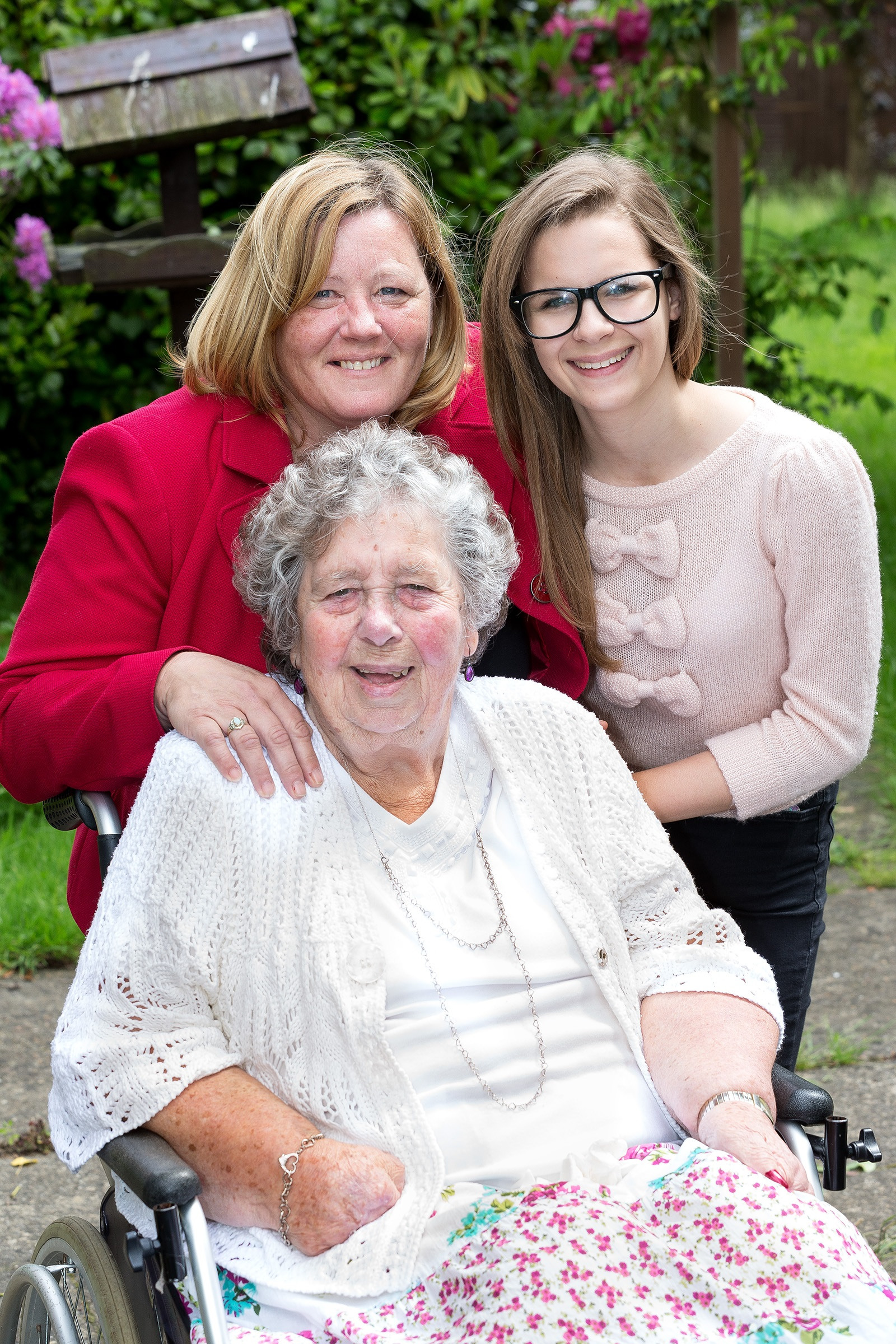 Sharon Dodson, Dengie Project Trust Manager, with volunteer Alice Bown, and Barbara Harris, 84, who uses the Knightswood Day Centre