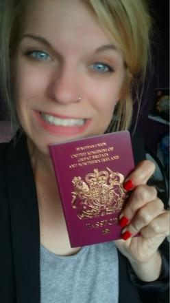 Charlotte Reeder and her long awaited passport