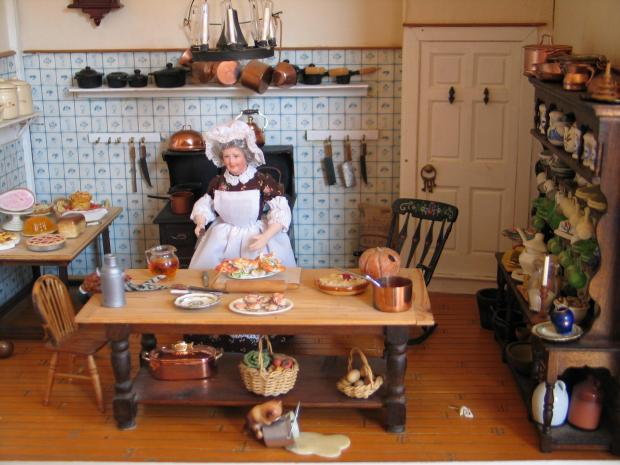 A dolls house scene from the exhibition