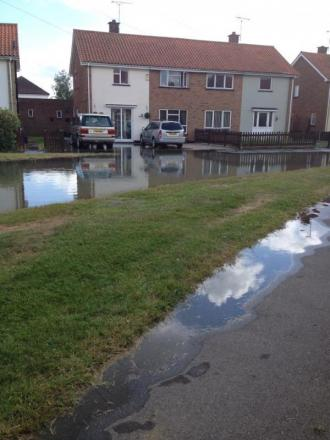 The water reached nearby Lawlinge Road