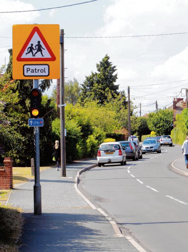 The patrol signs are up - but there has been no lollipop patrol for more than a year