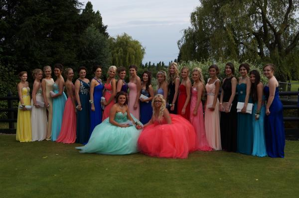Some the girls at the Plume School prom