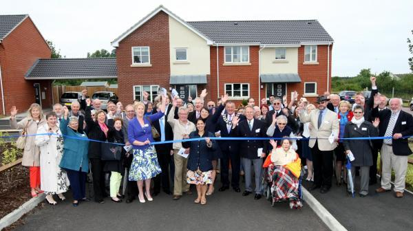 Maldon and Burnham Standard: Cheers as the ribbon is cut in Porter Place