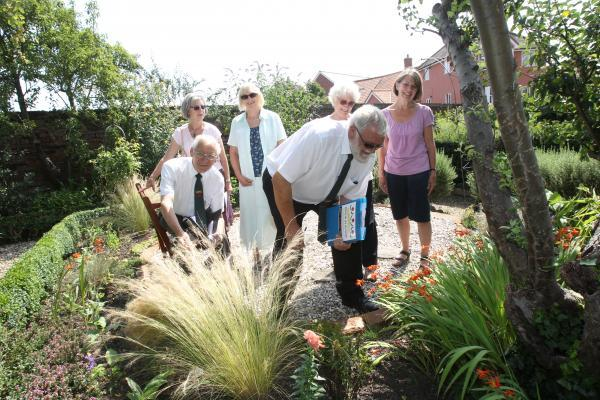 Anglia in Bloom judges at Friary Walled Garden