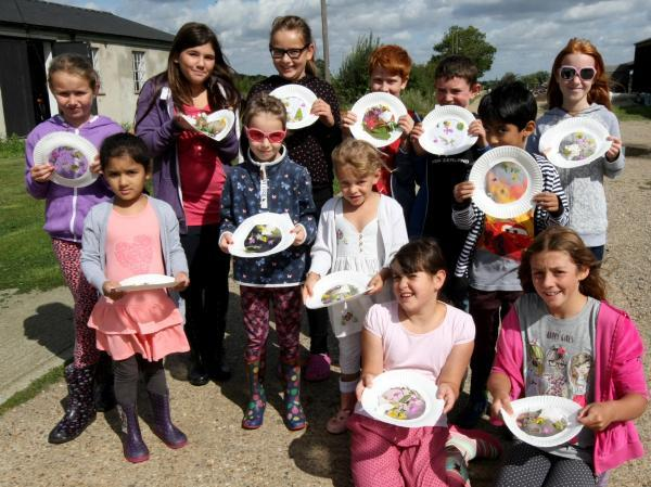 Children enjoy finding mini-beasts, birds and flowers at Stow Maries Aerodrome discovery day
