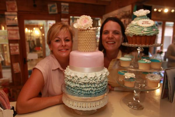 Kerry Savill (left) and Emma Wallis of Lottie and Jakes Cakes in the Kings Head Centre, Maldon, have received awards